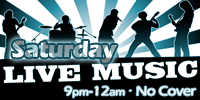 Live Music, no cover charge! Every Saturday at Marty's Grill