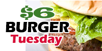 $6 Burgers, All Day, Every Tuesday at Marty's Grill